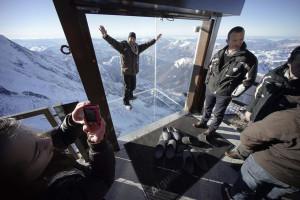 Стеклянная терраса. Французские альпы. Фоторепортаж