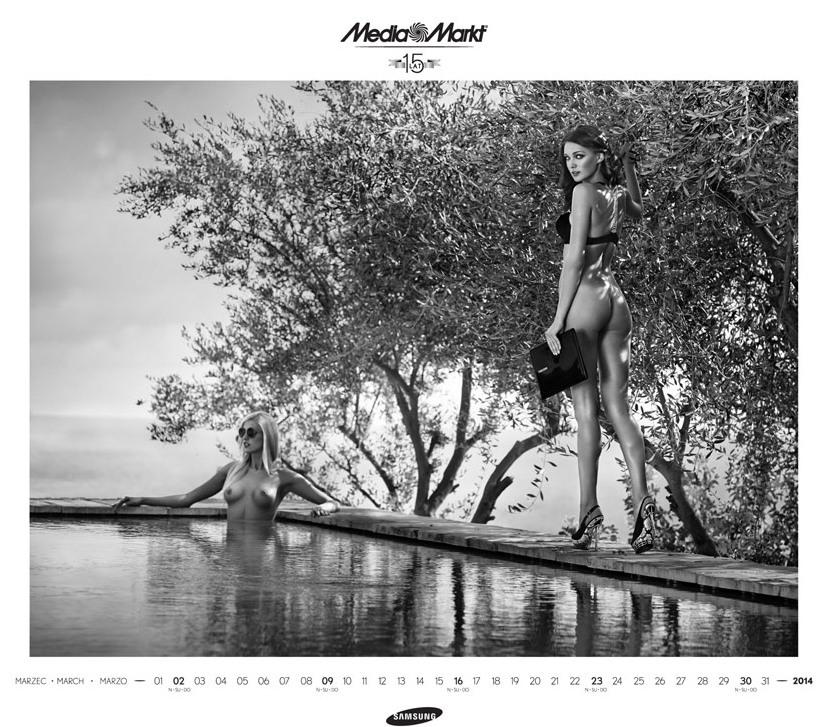 Media Markt эротический календарь на 2014 год. Фото №11
