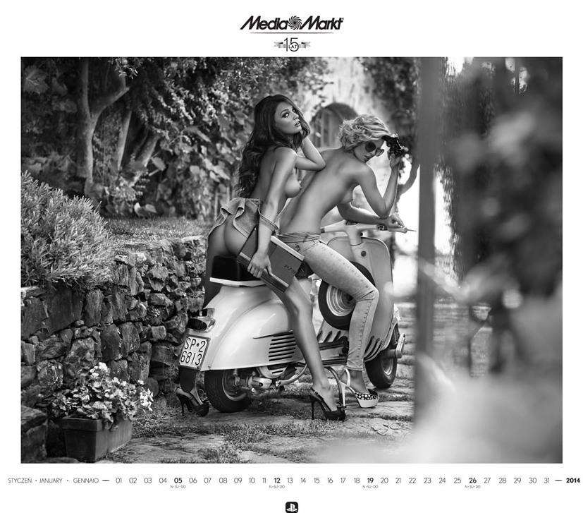Media Markt эротический календарь на 2014 год. Фото №13