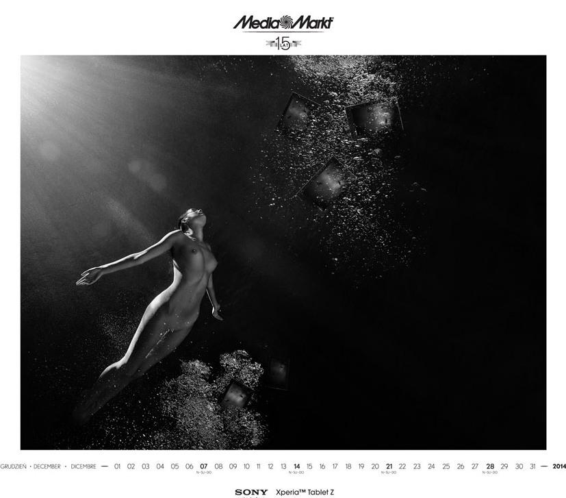 Media Markt эротический календарь на 2014 год. Фото №2