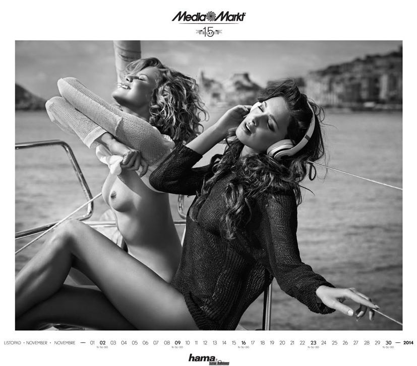 Media Markt эротический календарь на 2014 год. Фото №3