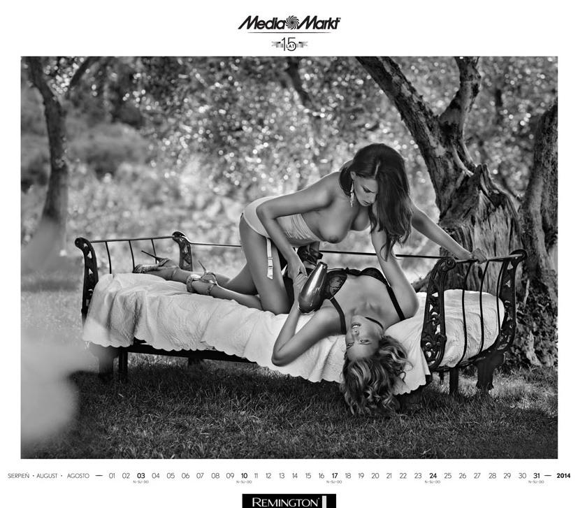 Media Markt эротический календарь на 2014 год. Фото №6