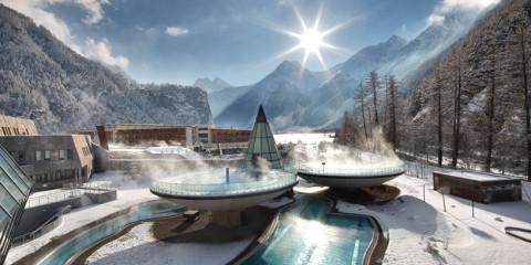 курорт, термальный, Австрия, Альпы