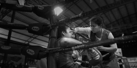 кикбоксинг, боксер, девушка, Камбоджа