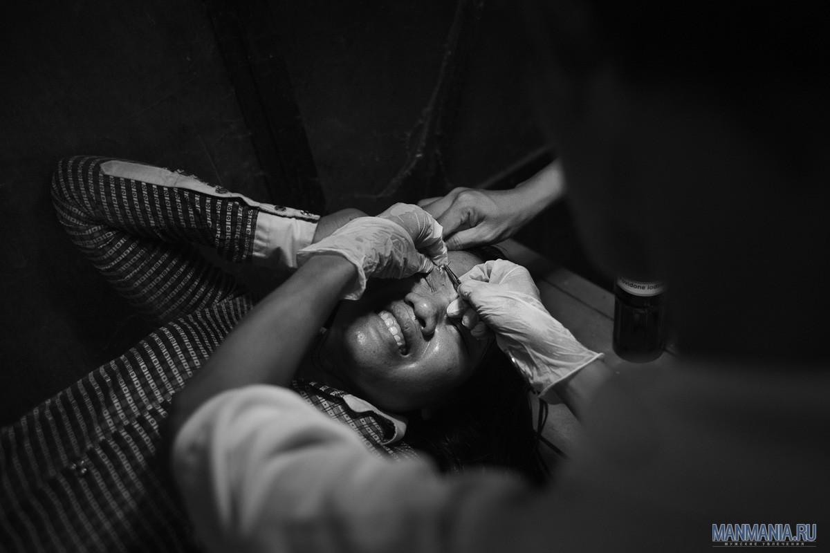 Женщина-кикбоксер в Камбодже. Фото №8